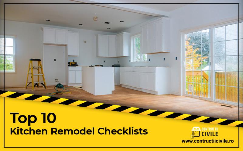 Top 10 Kitchen-Remodel-checklists
